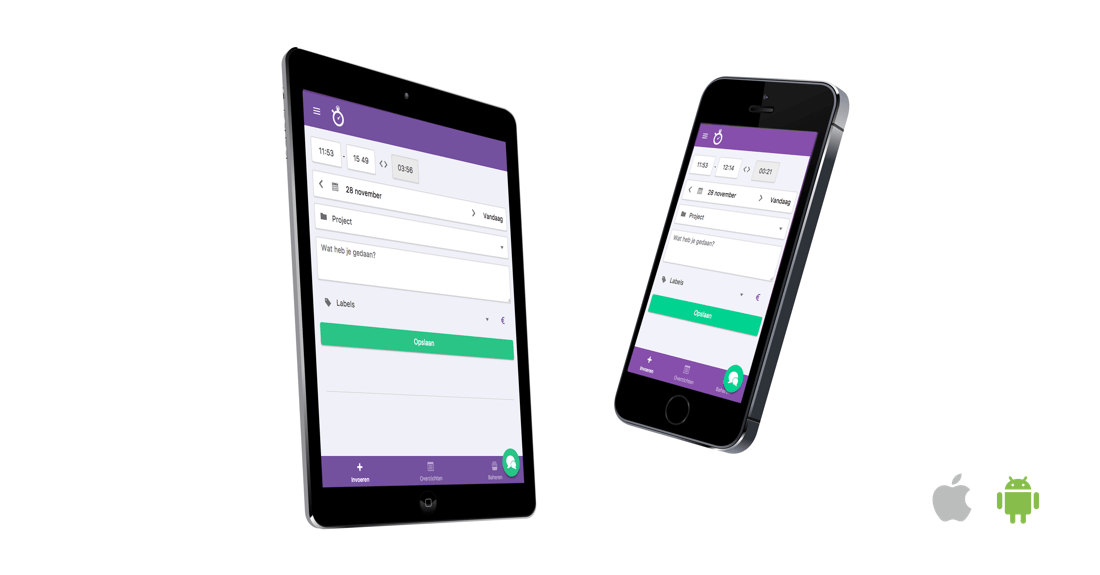 Mobiele urenregistratie app